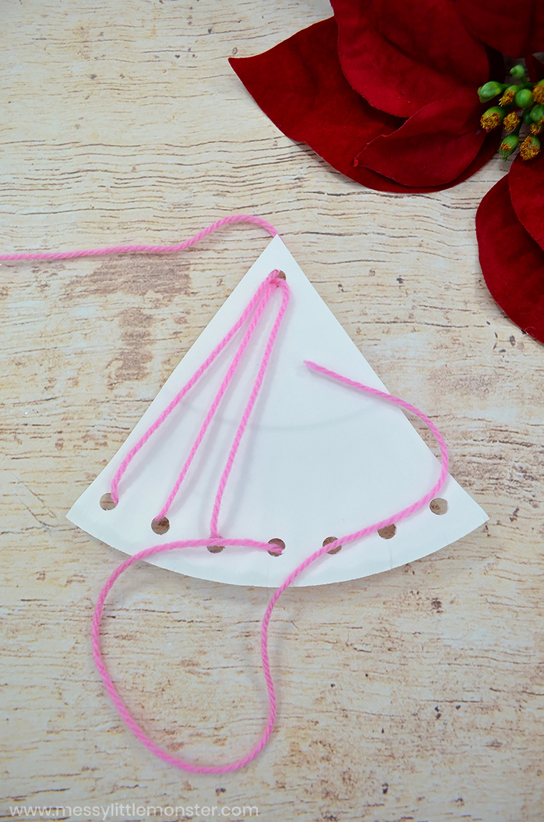 fine motor lacing craft for preschoolers