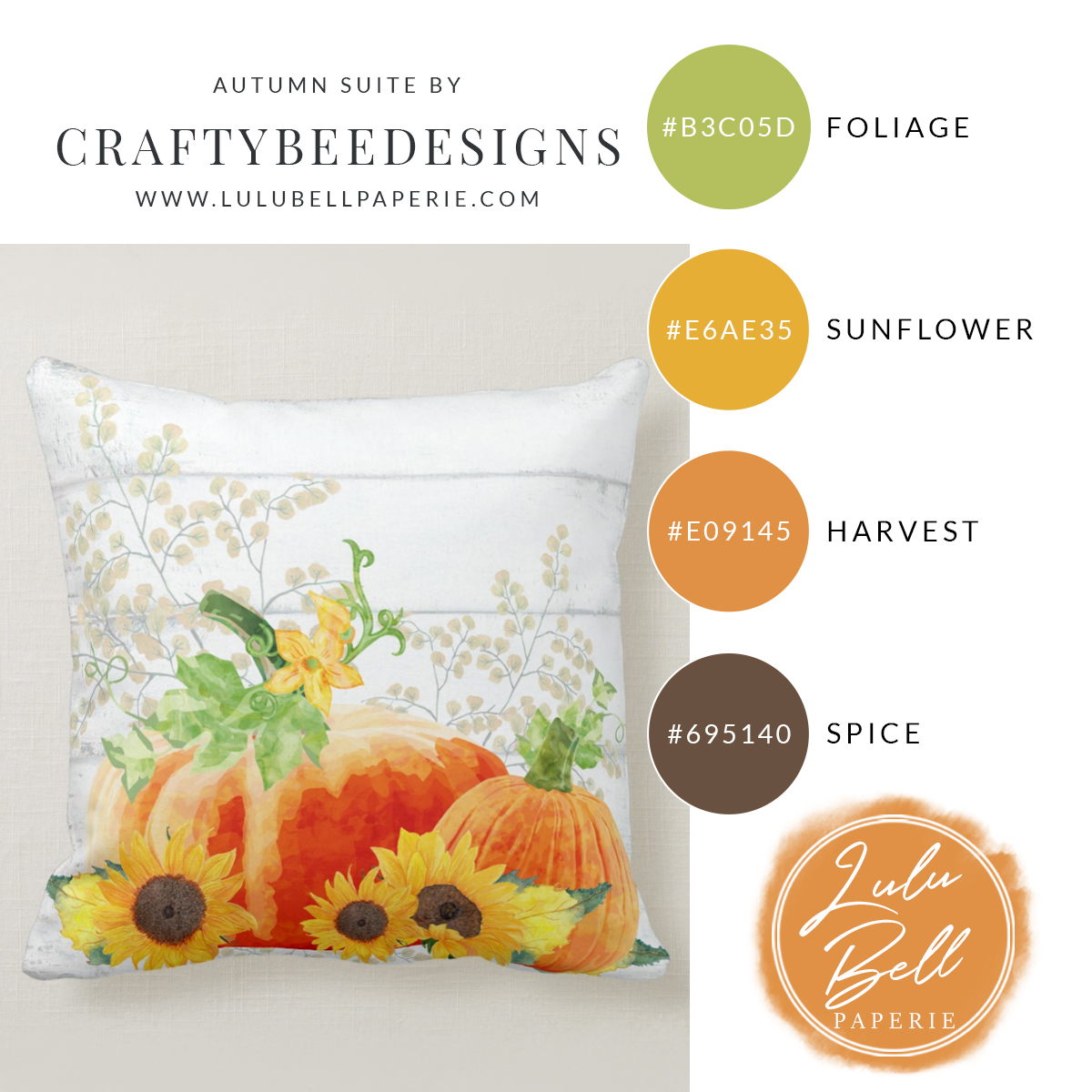 Autumn Farmhouse Home Decor Collection - Sunflower Pumpkins and Shiplap Throw Pillows