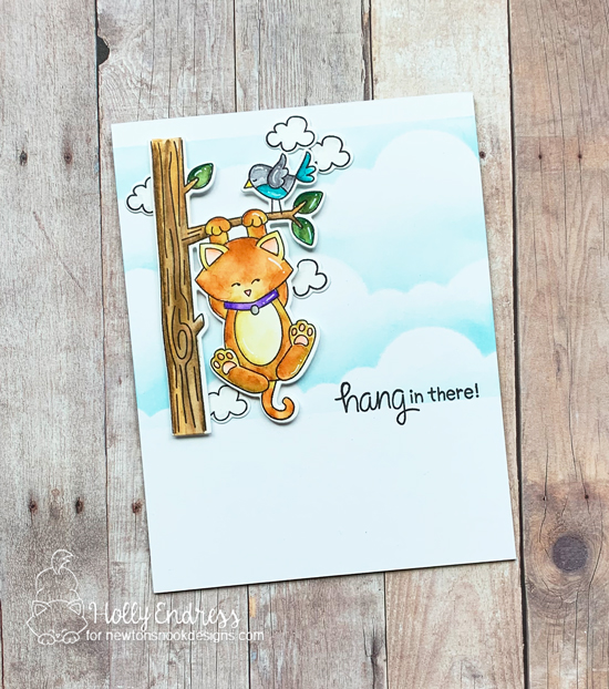 Hang in there Card by Holly Endress | Newton Hangs Out Stamp Set by Newton's Nook Designs #newtonsnook #handmade