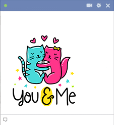 You And Me - Emoticon for Facebook