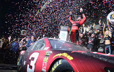 "Austin Dillon delivers emotional DAYTONA 500 victory for Richard Childress Racing in the ""The Great American Race."" #NASCAR"
