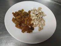 Cashew nuts and raisins for Samosa recipe