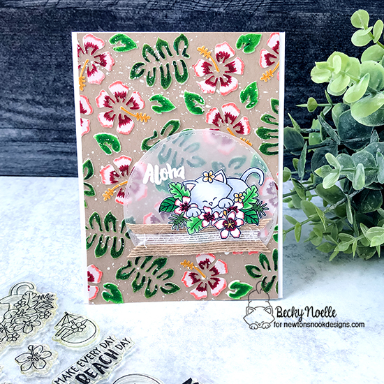 Aloha by Becky features Aloha Newton and Hibiscus by Newton's Nook Design; #newtonsnook