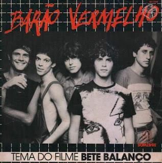 """Capa do Disco """"Tema do Filme Bete Balanço"""", lançado em 1984 pelo grupo Barão Vermelho:"""