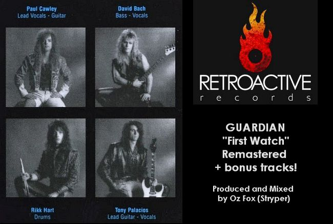 GUARDIAN - First Watch [RetroActive Legends Remastered +2] (2018) inside