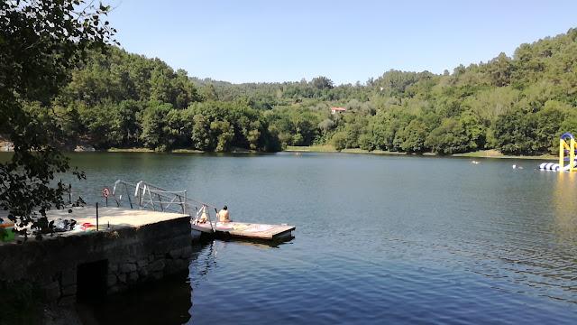 Zona do Ancoradouro na Barragem de Queimadela