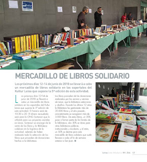 Mercadillo de libros solidario en Leioa del 12 al 14 de junio