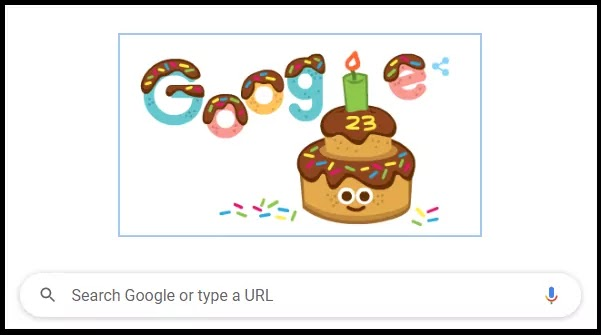 Happy Birthday Google - This is the photo of Google's Birthday Celebration By Doodle.