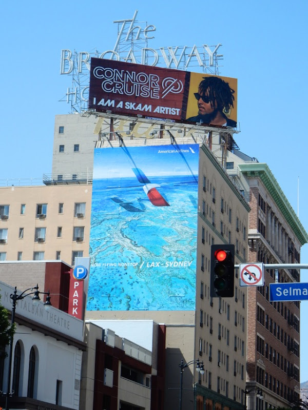American Airlines LAX Sydney billboard