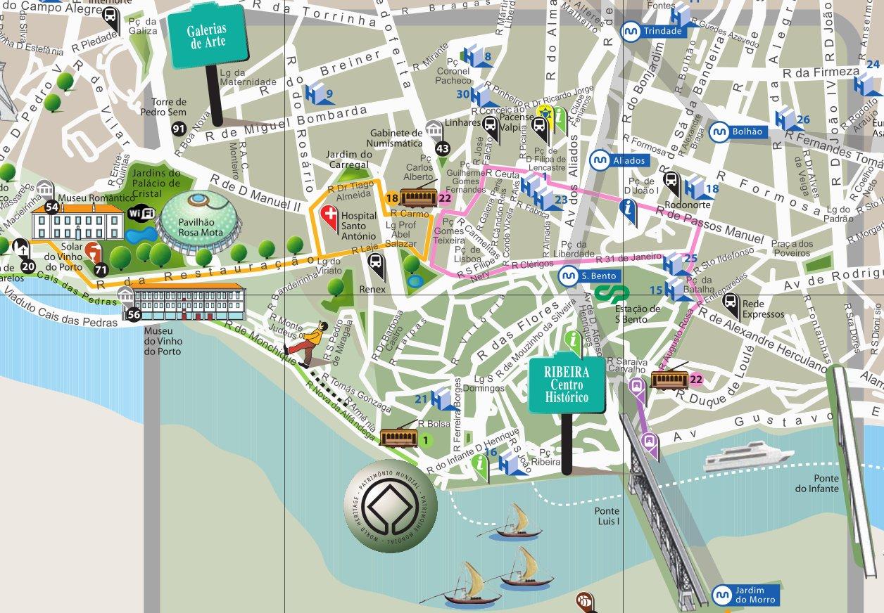 porto cidade mapa Mapa Cidade Do Porto | thujamassages porto cidade mapa