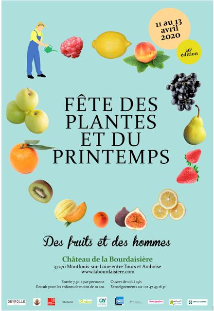 Fête des Plantes et du Printemps les 11, 12 et 13 avril 2020 au Château de la Bourdaisière