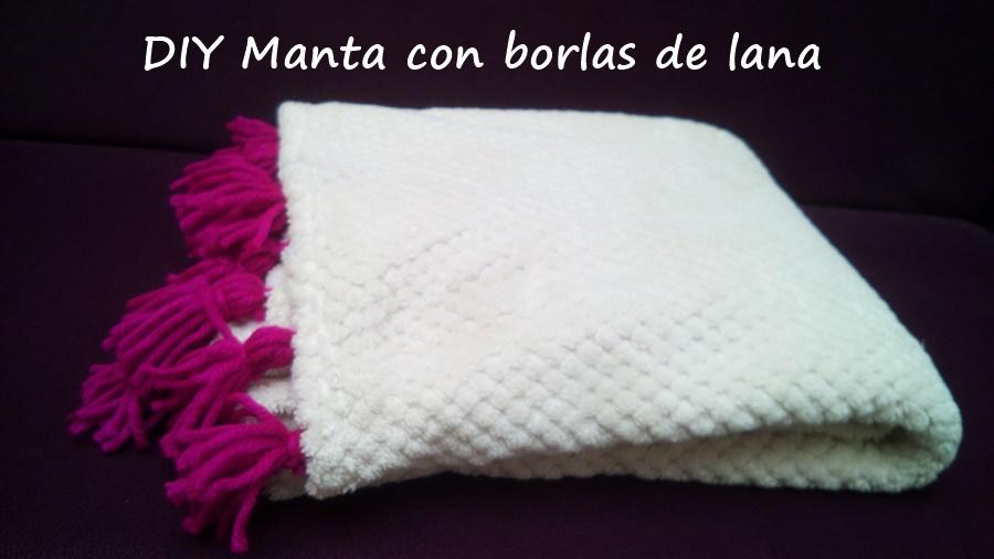 Diy como hacer una manta con borlas de lana cocochicdeco - Lana gorda para mantas ...