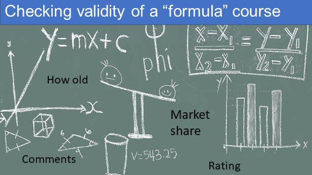 """Checking the validity of a """"formula"""" course"""