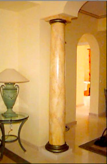 Pintura decorativa begitrick imitaci n a m rmol columna for Imitacion marmol travertino precio