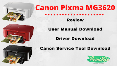 Canon Pixma MG3620 resetter and user manual
