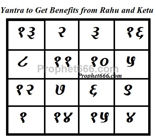 Yantra to Get Benefits from Rahu and Ketu