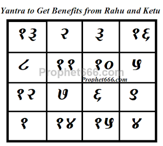 Yantra to remove the ill effects of Rahu and Ketu