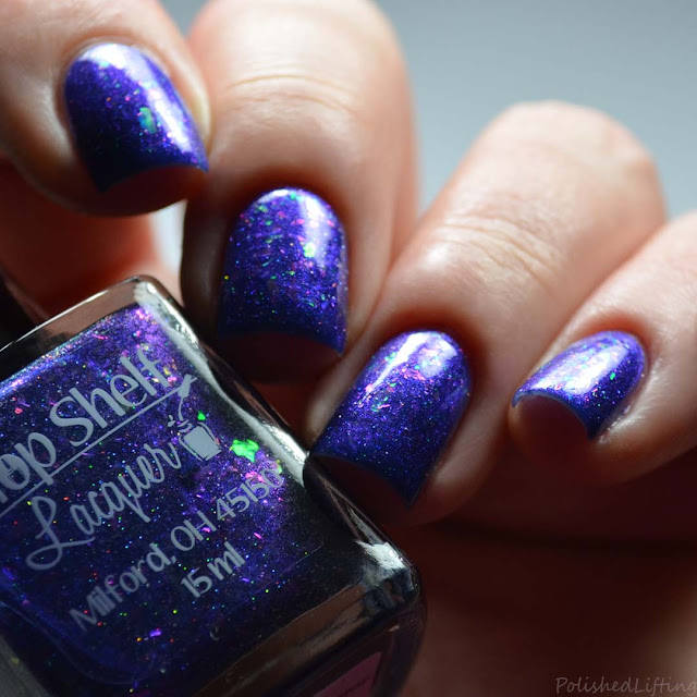 blue to purple nail polish