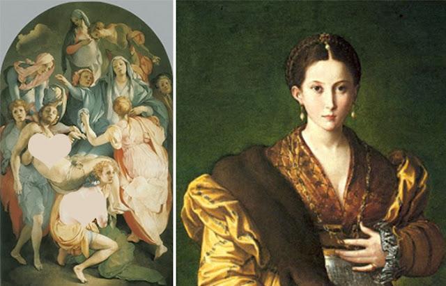 """Obras maneiristas: Pontormo """"Entombment"""" (1525-1528). Florença, Igreja de Santa Felicita / Parmigianino """"Anthea"""""""