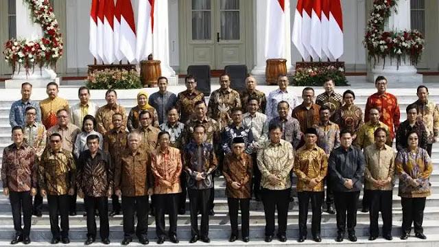 Profil singkat 34 Menteri kabinet Indonesia maju 2019-2024