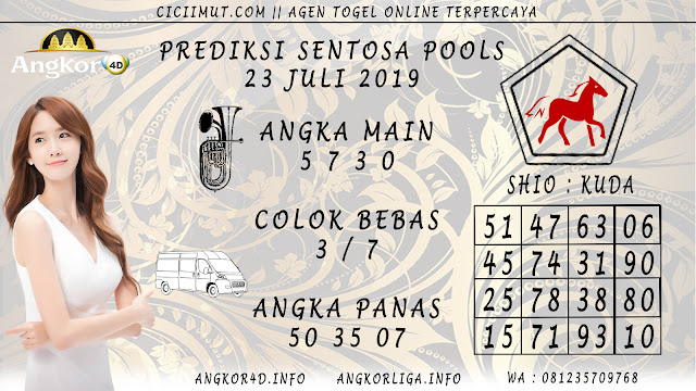 PREDIKSI SENTOSA POOLS 23 JULI 2019