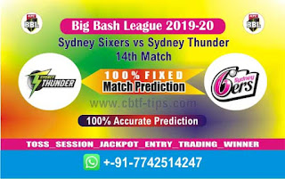 Who will win Today BBL T20, 14th Match Thunder vs Sixer - Cricfrog