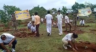 CISF ने ग्रामीणों की मदद से किया वृक्षा रोपण, 2 दिनों में किया सैकड़ो फलदार वृक्षो का रोपण