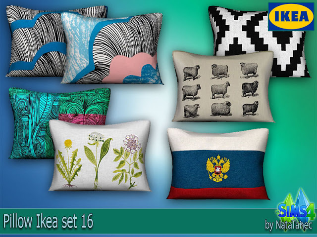 My Sims 4 Blog IKEA Pillows by Natatanec