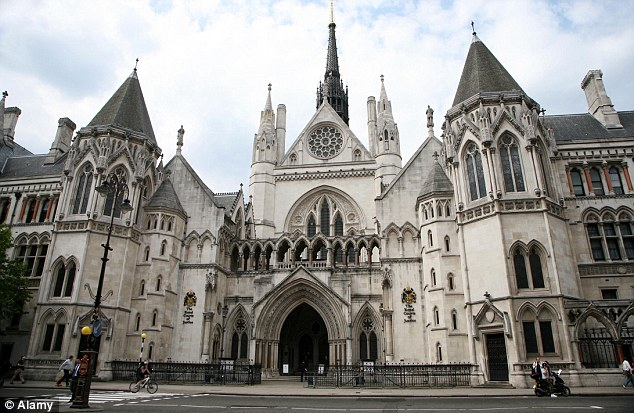 High Courts of Justice in London, photo from The Mail Online