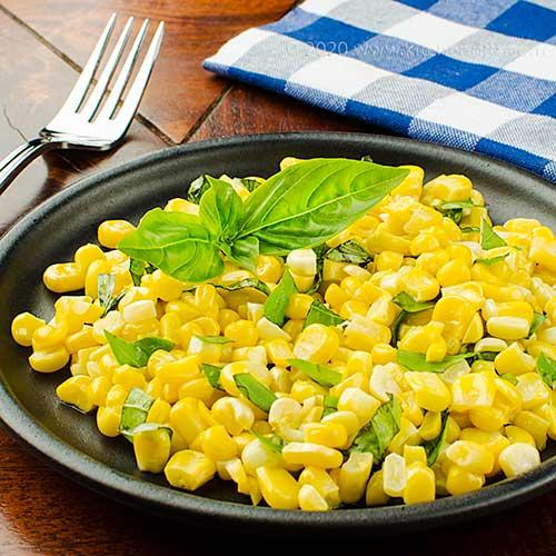 Sweet Corn Sautéed in Brown Butter