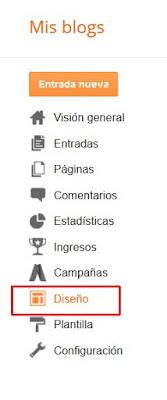 Diseño en Blogger