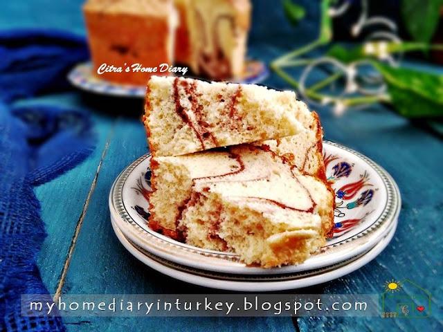 PEANUT BUTTER CHIFFON CAKE   Çitra's Home Diary. #chiffoncakerecipe #peanutbutter #peanutbuttercake #coffeecakerecipe #resepkuesifon #şifonkektarifi #marblecake