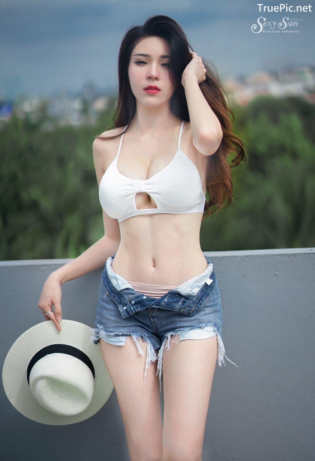 Image-Thailand Sexy Model-Janet-Kanokwan-Saesim-White-Bra-And-Jean-TruePic.net- Picture-10