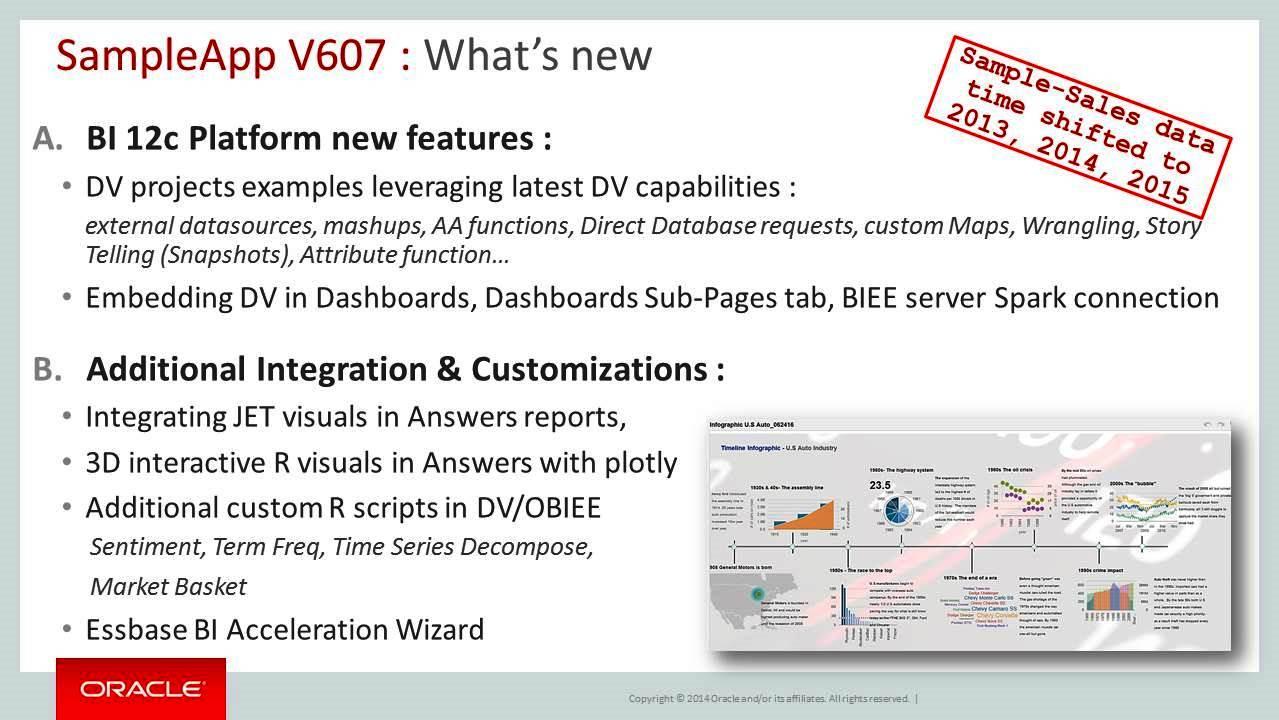 Oracle Underground BI & Dataviz: OBIEE SampleApp V607