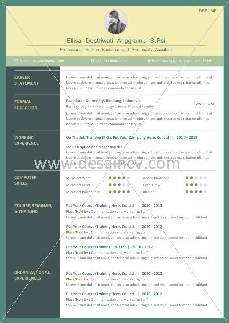 Contoh CV yang Menarik dan Profesional