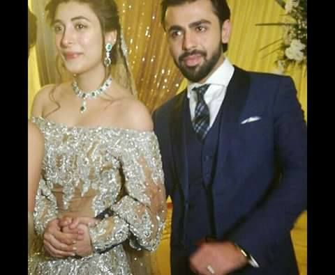 Latest pics of Urwa hocane and farhan Saeed. Urwa hocane farhan saeed have been married recently in lahore Badshahi mosque.farhan and urwa married images released on social media.wedding reception of beautiful model,actress and famous Pakistani singer farhan saeed wedding reception.