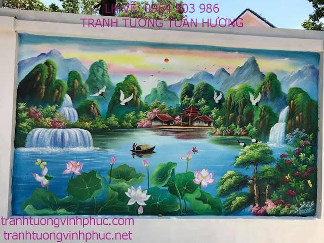 vẽ tranh 3d tại khu 3 thôn trung tt yên lạc