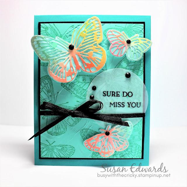 Color Brushed Butterfly Blog Hop