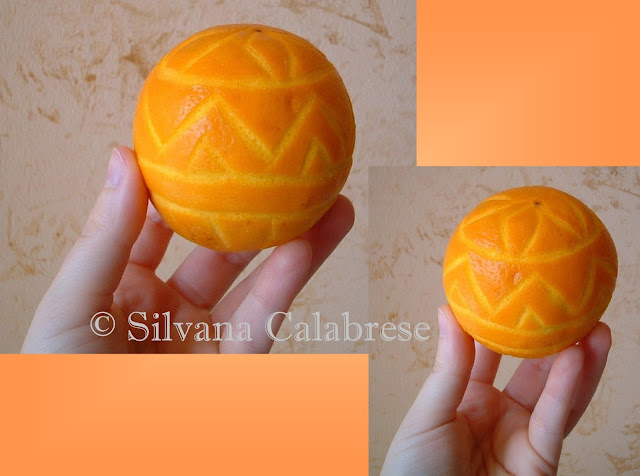 Intagli frutta agrumi arancia decorata Silvana Calabrese - Blog