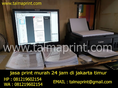 jasa print inkjet warna dan print hitam putih di rawamangun, jakarta timur - TALMAPRINT