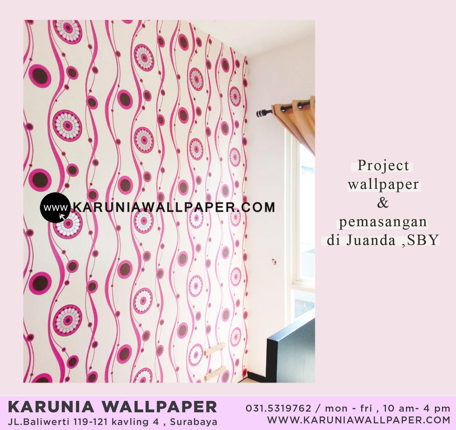 jual pasang wallpaper dinding surabaya