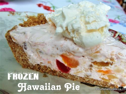 A slice of Frozen Hawaiian Pie.
