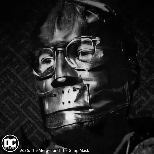 Riddler in Gimp Mask from 'The Batman' | Text: DC on SCREEN #636 The Merger and the Gimp Mask