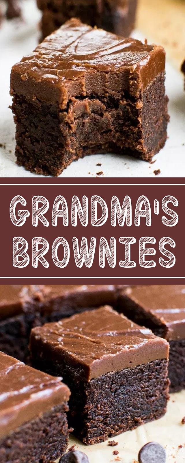 Recipe GRANDMA'S BROWNIES #brownies #cakes