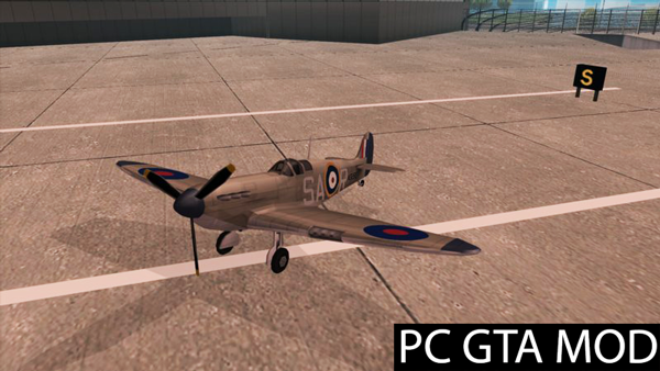 Free Download  Rustler - Spitfire MK1 [SA Style]  Mod for GTA San Andreas.