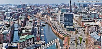 Hamburger Speicherstadt von oben, Weltkulturerbe Hamburg