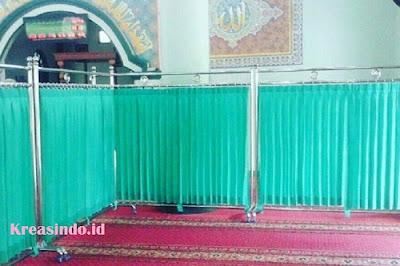 Jasa Pembuatan Hijab Masjid atau Pembatas Sholat Stainless di Seluruh Lampung