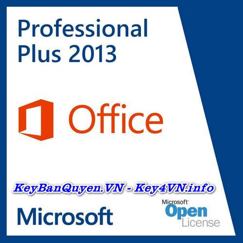 Mua bán key bản quyền Office 2013 Pro Plus Full 32 và 64 Bit.