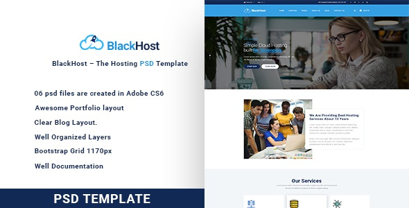 Best The Hosting PSD Template