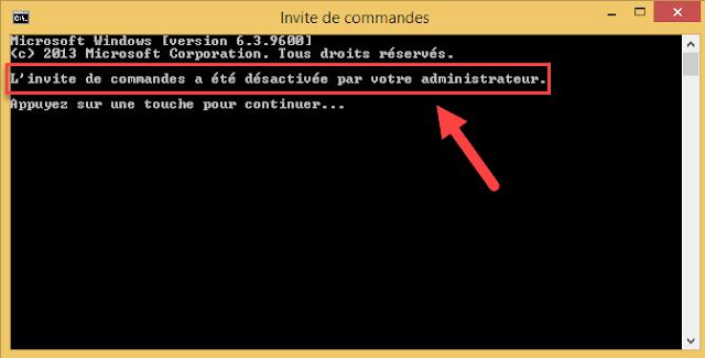 désactiver, empêcher, interdire, protéger, l'invite de commandes, cmd.exe, éditeur de stratégie de groupe locale, gpedit.msc, Windows 8, trucs et astuces, administration